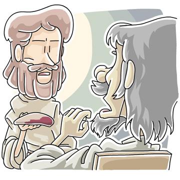 ユダの裏切りを告げたイエス