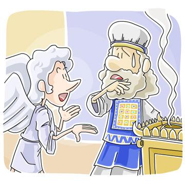 ザカリヤに現れた天使ガブリエル