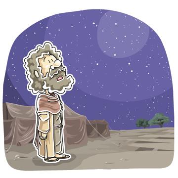 星空を見上げたアブラム