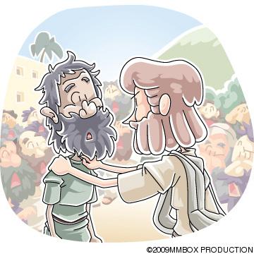 口のきけない人を癒したイエス