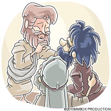 目が見えず口もきけない人を癒したイエス