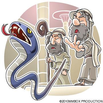蛇になったアロンの杖