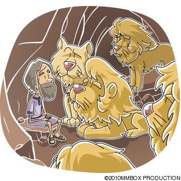 獅子の穴に投げ込まれたダニエル