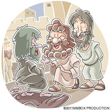 足のなえた人を癒したペテロとヨハネ