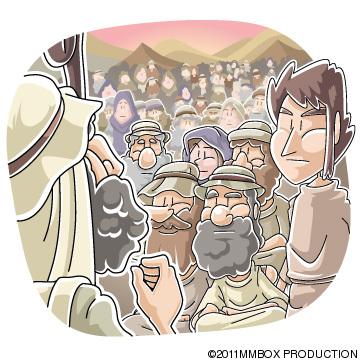 主の命令を伝えたモーセ