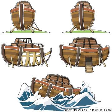 ノアの方舟のいろんな絵