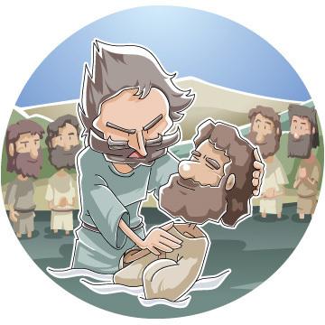 イエスの御名によってエペソ人に洗礼を授けたパウロ