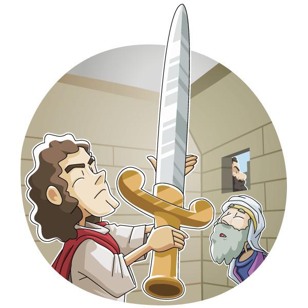 本日のキリスト教クリップアート「ダビデを助けたアヒメレク」