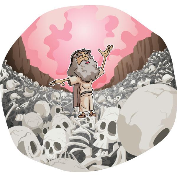 本日のキリスト教クリップアート「枯骨の谷」