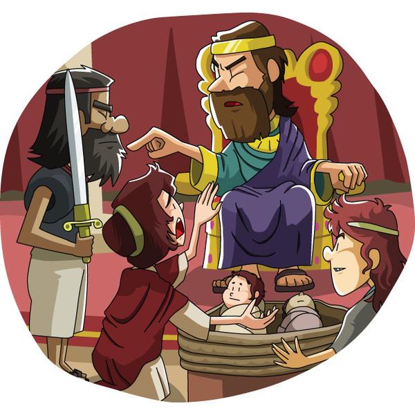 本日のキリスト教クリップアート「ソロモン王の賢い審判」