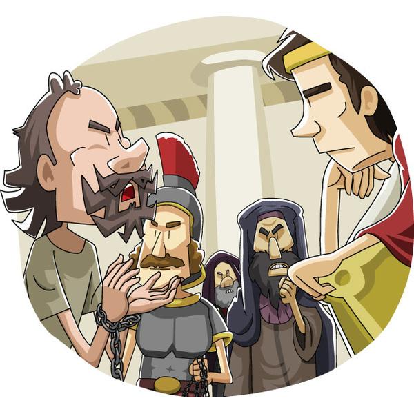 本日のキリスト教クリップアート「総督の前でのパウロの弁明」