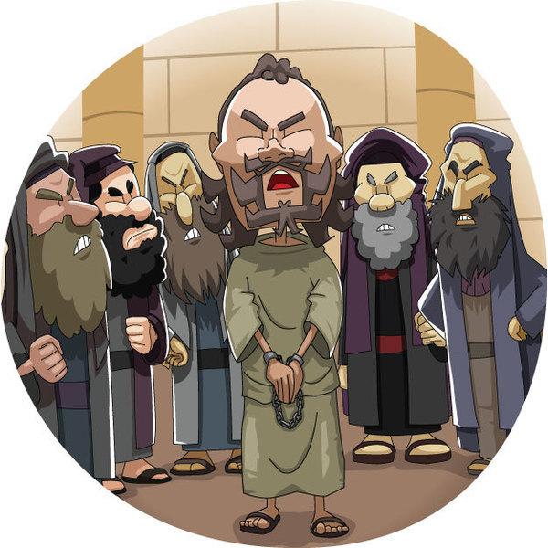 本日のキリスト教クリップアート「フェストによるパウロの裁判」