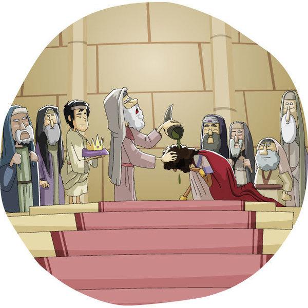 500回目!! 本日のキリスト教クリップアート「イスラエルを治めたダビデ王」