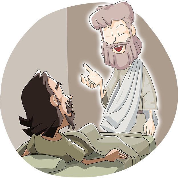 本日のキリスト教クリップアート「パウロがローマで証しすることを伝えたイエス」